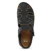 Czarne skórzane sandały męskie zpełnymi noskami bata, czarny, 866-6616 - 17