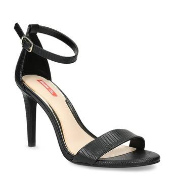 Czarne sandały na szpilkach, czarny, 661-6610 - 13