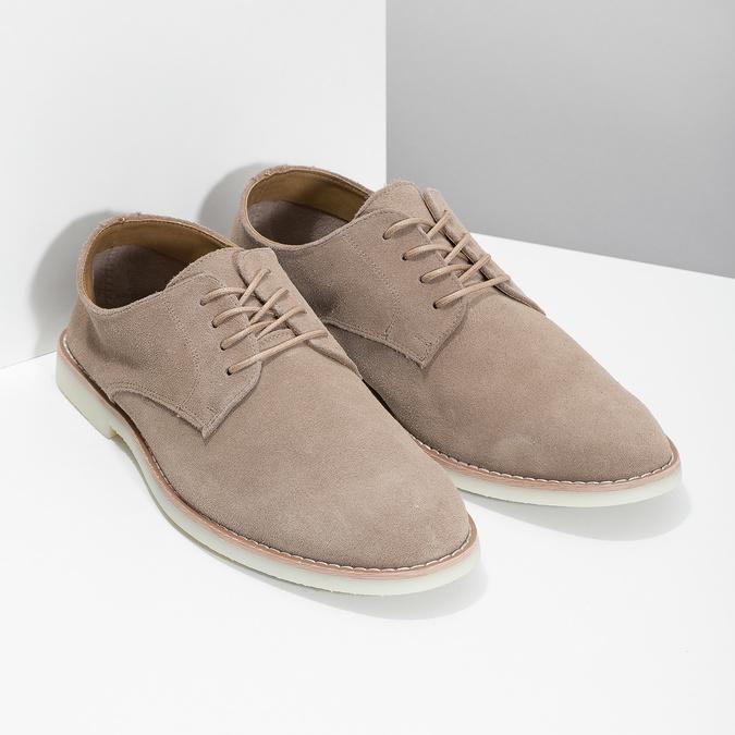 Beżowe nieformalne półbuty męskie bata-red-label, beżowy, 823-8625 - 26