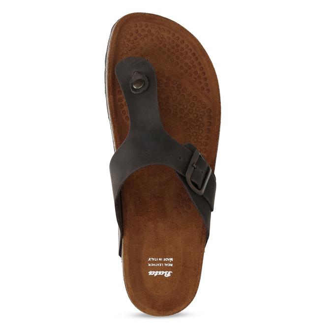 Skórzane japonki męskie bata, brązowy, 866-4848 - 17