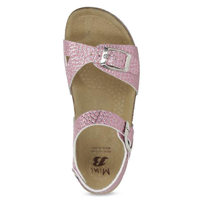 Różowe korkowe sandały mini-b, różowy, 361-5250 - 17