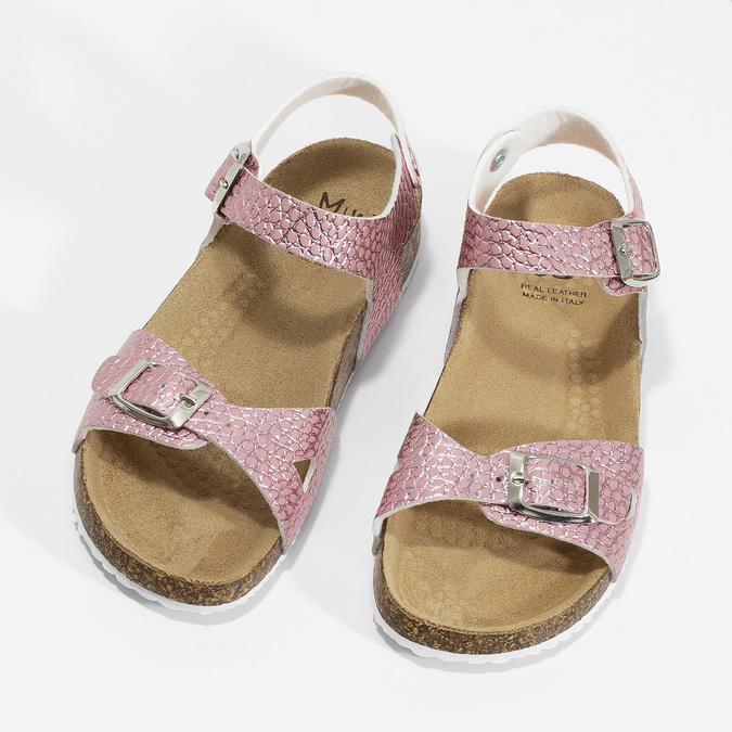 Różowe korkowe sandały mini-b, różowy, 361-5250 - 16