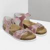 Różowe korkowe sandały mini-b, różowy, 361-5250 - 26