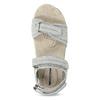 Skórzane sandały damskie na rzepy weinbrenner, szary, 566-2608 - 17