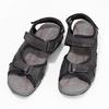 Czarne skórzane sandały męskie na rzepy weinbrenner, czarny, 866-6635 - 16
