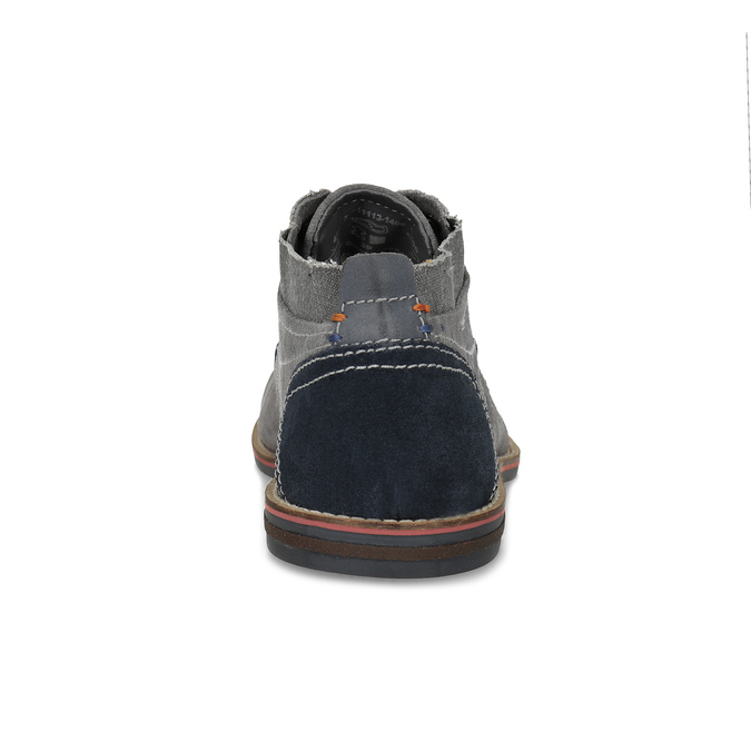 Szare zamszowe buty wstylu chukka bugatti, szary, 823-2015 - 15