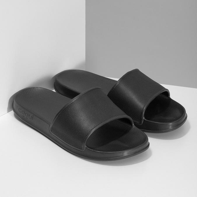 Ciemnoszare klapki męskie coqui, czarny, 872-2658 - 26