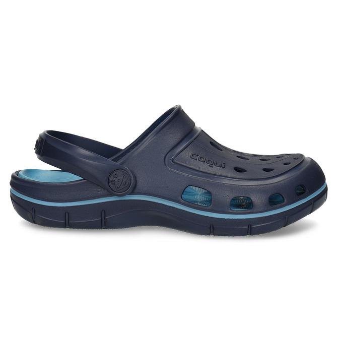 Granatowe sandały dziecięce wstylu chodaków coqui, niebieski, 372-9656 - 19