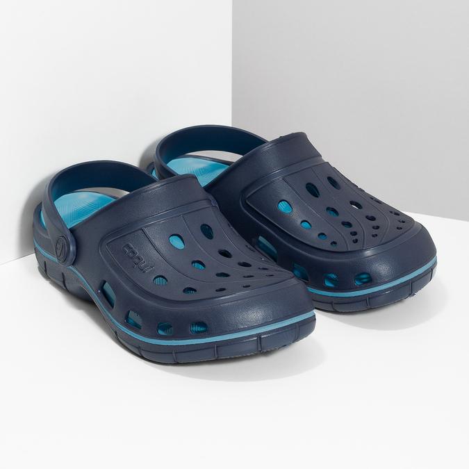 Granatowe sandały dziecięce wstylu chodaków coqui, niebieski, 372-9656 - 26