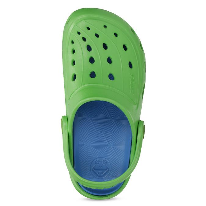 Zielone sandały dziecięce wstylu chodaków coqui, zielony, 372-7656 - 17