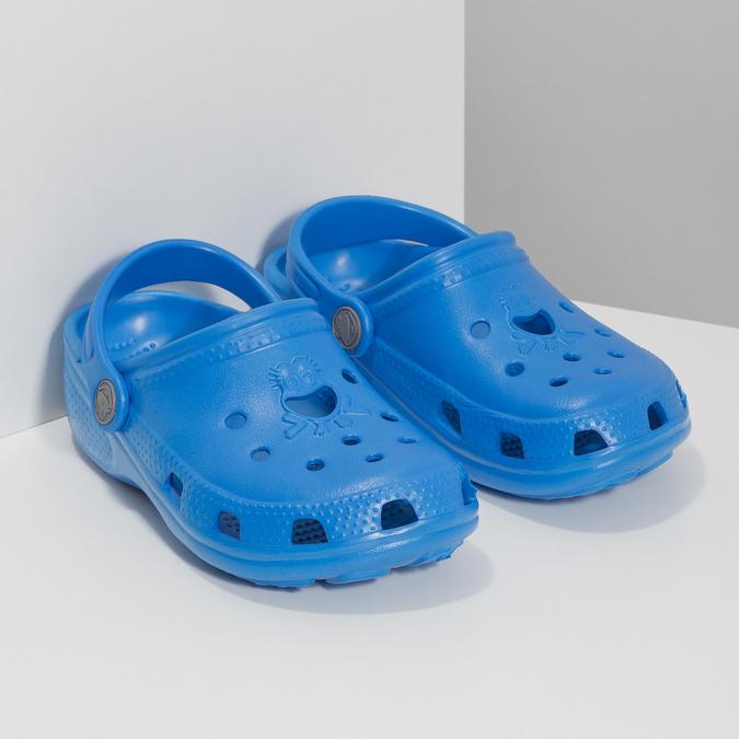 Niebieskie sandały dziecięce zżabą coqui, niebieski, 372-9655 - 26