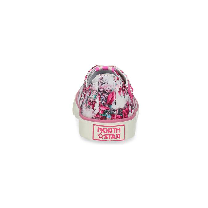Różowe trampki wkwiecisty deseń north-star, różowy, 589-5460 - 15