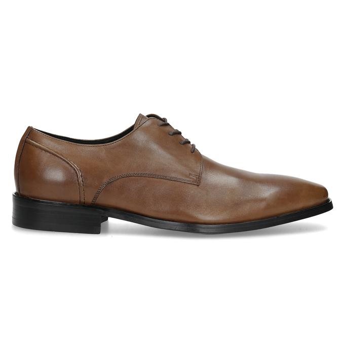 Brązowe skórzane półbuty męskie typu angielki bata, brązowy, 826-3646 - 19