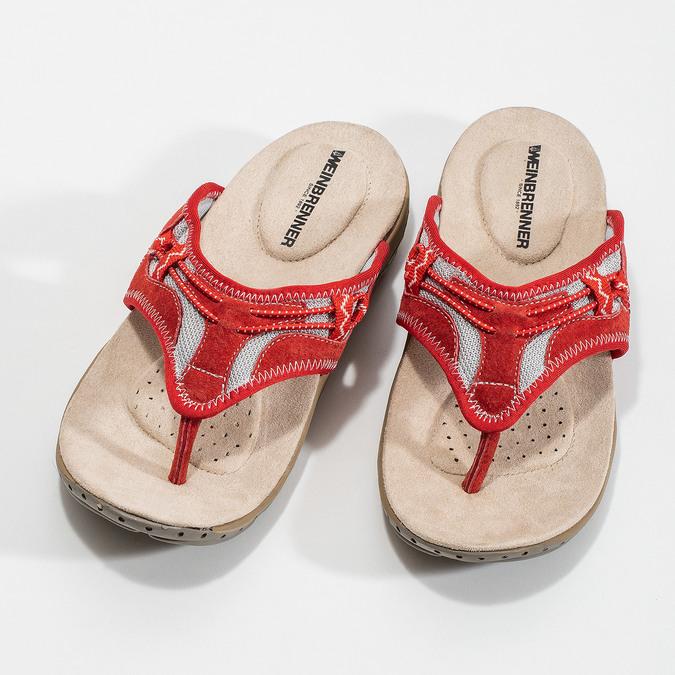 Japonki damskie wsportowym stylu weinbrenner, czerwony, 566-5611 - 16