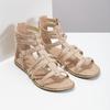 Beżowe sandały damskie typu gladiatorki bata, 561-8620 - 26