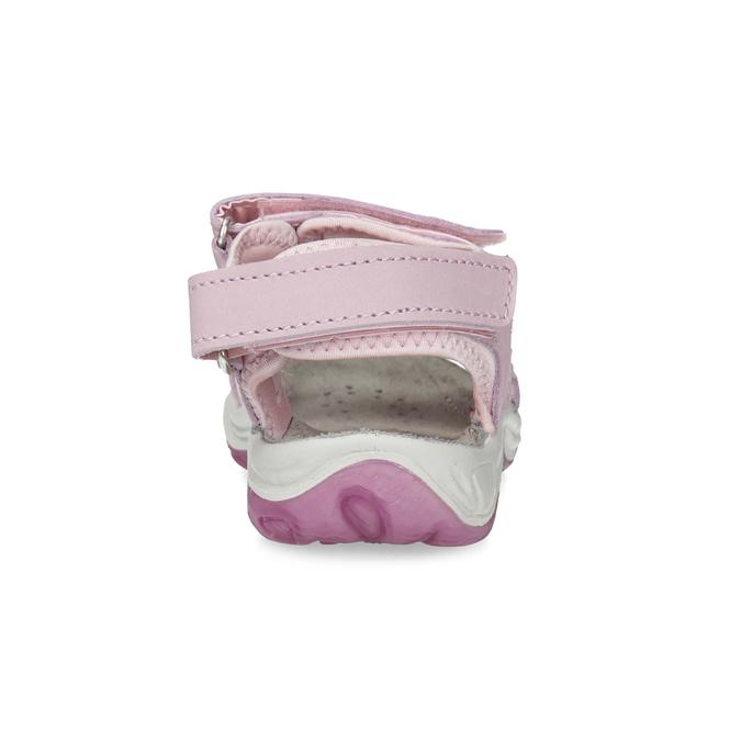 Skórzane sandały dziewczęce wstylu outdoor weinbrenner, różowy, 366-5606 - 15