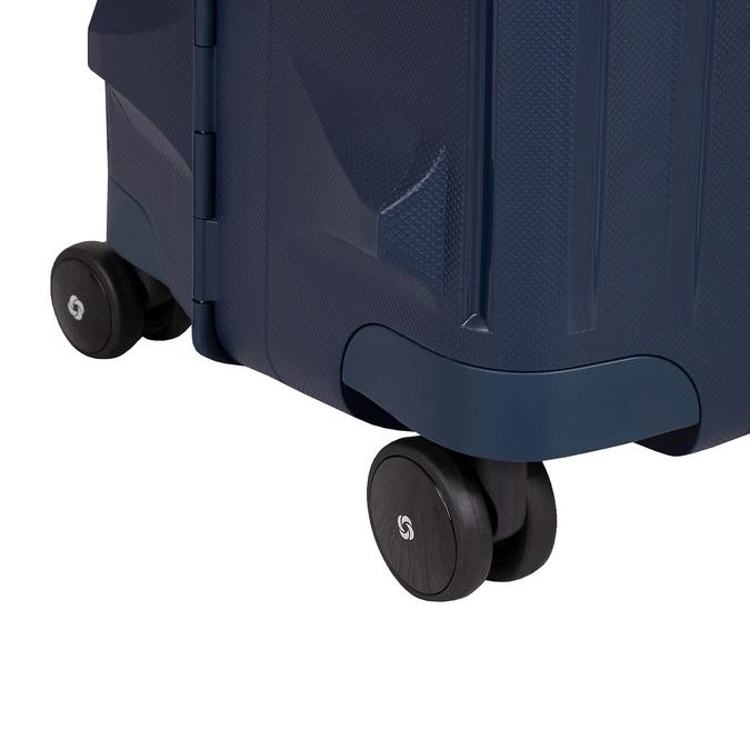 Twarda granatowa walizka na kółkach samsonite, niebieski, 960-9612 - 16