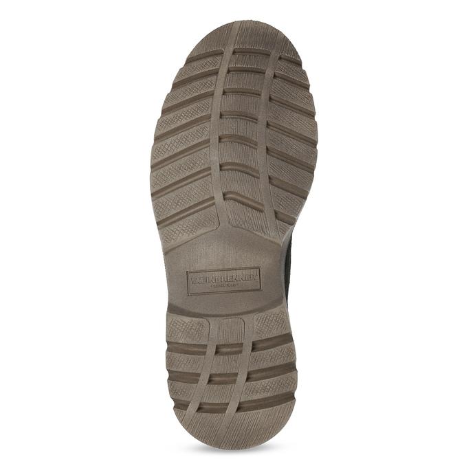 Skórzane zimowe buty męskie weinbrenner, czarny, 896-6107 - 18