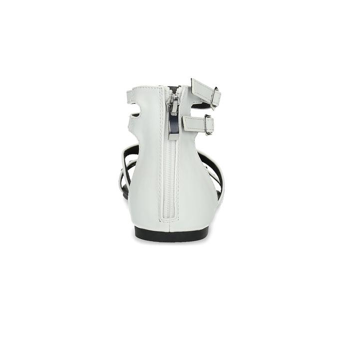 Białe sandały damskie zćwiekami bata, biały, 561-1613 - 15