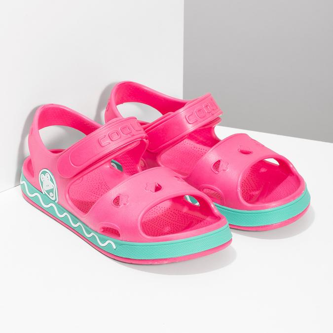 Różowe sandały dziewczęce coqui, różowy, 372-5658 - 26
