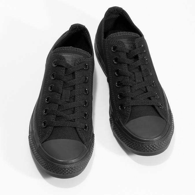 Czarne płócienne trampki damskie converse, czarny, 589-6179 - 16