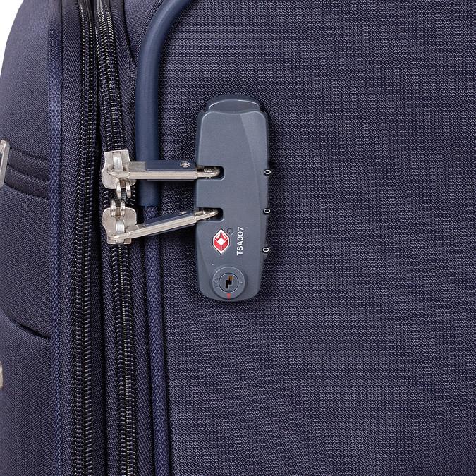 Duża miękka granatowa walizka na kółkach samsonite, niebieski, 960-9042 - 15