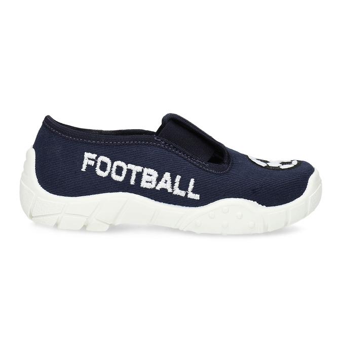 Granatowe obuwie dziecięce typu slip-on mini-b, niebieski, 379-9601 - 19