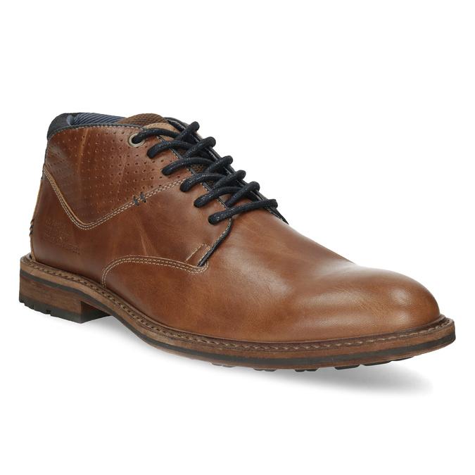 Brązowe skórzane obuwie męskie za kostkę bata, brązowy, 826-3505 - 13