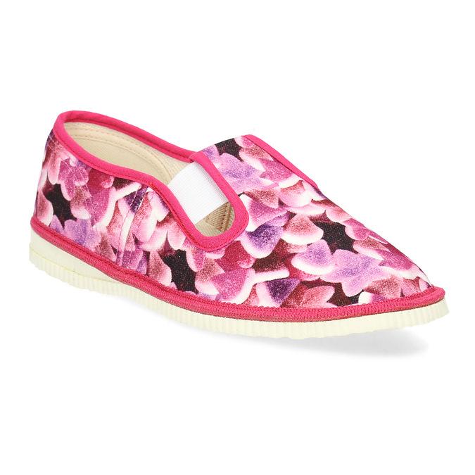 Różowe wzorzyste kapcie dziecięce bata, różowy, 379-9123 - 13
