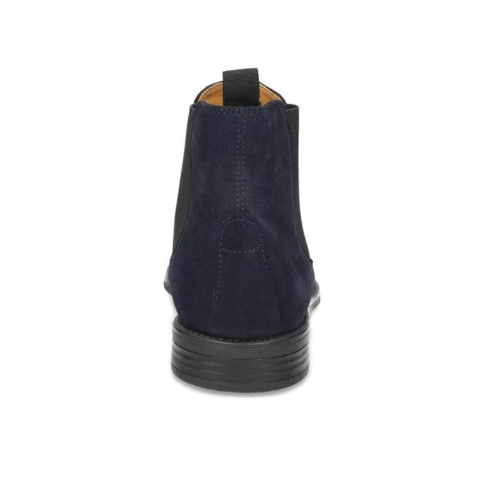 Granatowe skórzane obuwie męskie typu chelsea vagabond, niebieski, 813-6153 - 15