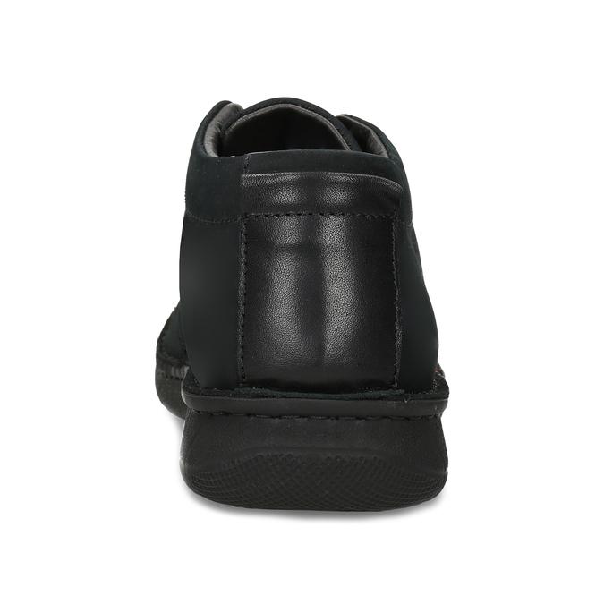 Czarne skórzane obuwie męskie za kostkę bata, czarny, 846-6716 - 15