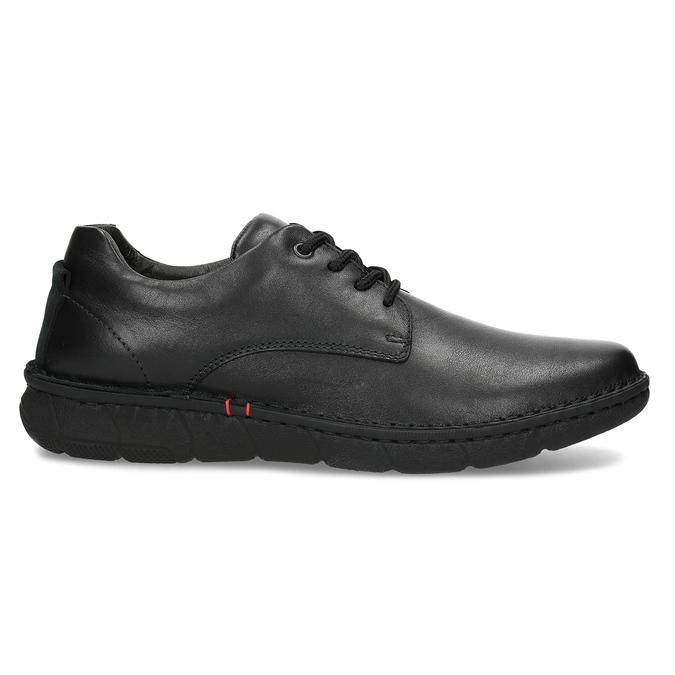 Czarne skórzane półbuty męskie bata, czarny, 824-6630 - 19