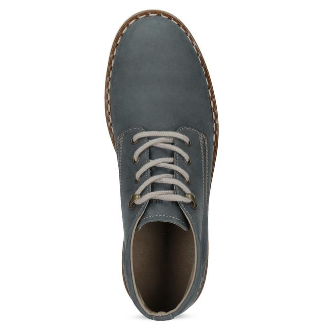 Niebieskie skórzane obuwie męskie za kostkę weinbrenner, niebieski, 846-9658 - 17