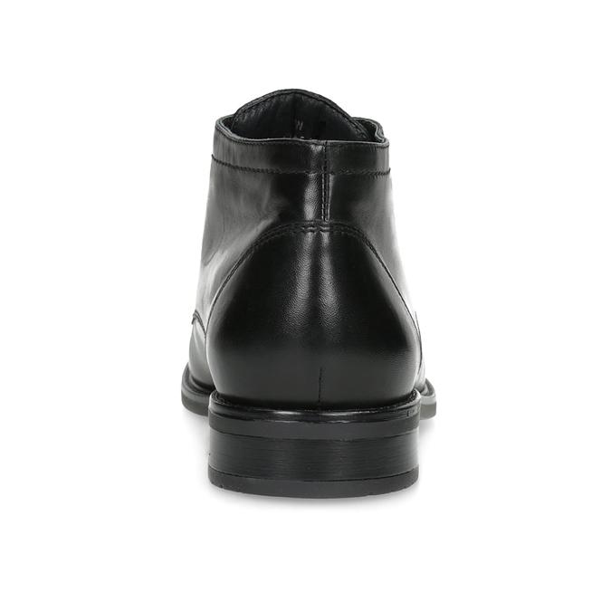 Skórzane obuwie męskie za kostkę bata, czarny, 824-6893 - 15