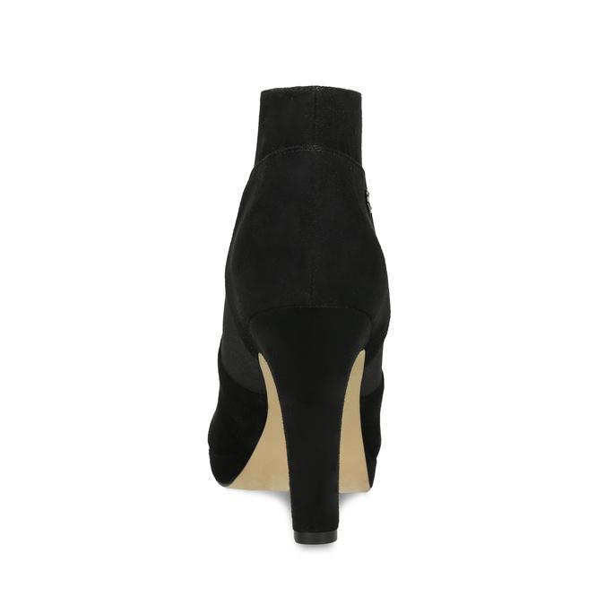 Czarne botki na szpilkach bata, czarny, 799-6624 - 15