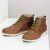 Brązowe skórzane obuwie męskie za kostkę bata, brązowy, 846-3645 - 16