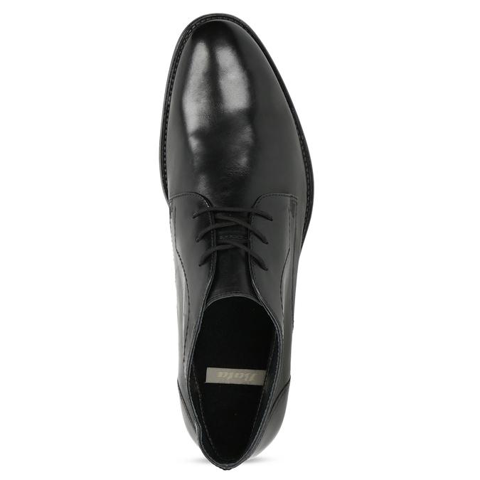 Skórzane buty męskie za kostkę bata, czarny, 824-6892 - 17