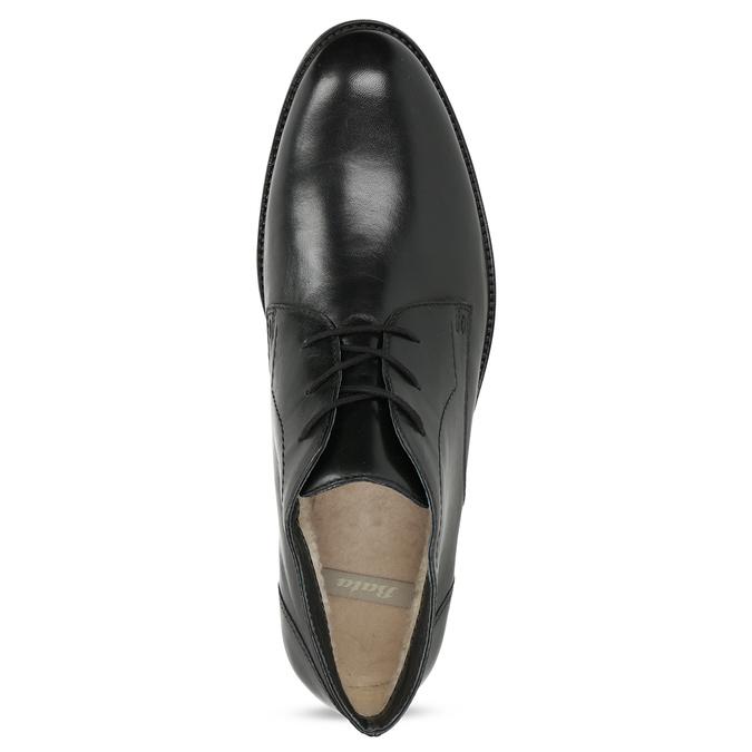 Skórzane obuwie męskie za kostkę bata, czarny, 824-6893 - 17
