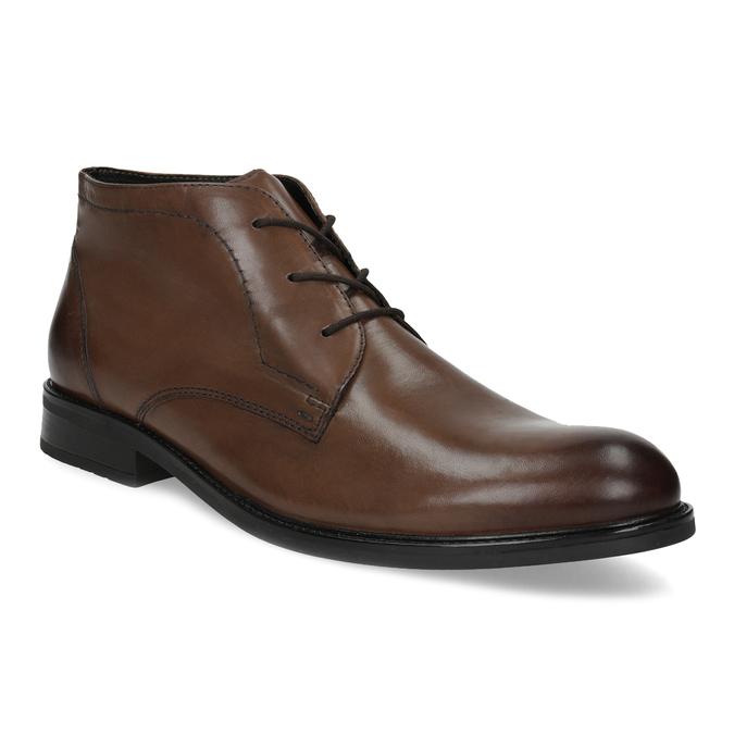 Skórzane obuwie męskie za kostkę bata, brązowy, 826-3893 - 13