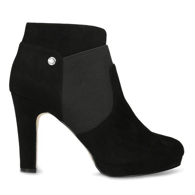 Czarne botki na szpilkach bata, czarny, 799-6624 - 19