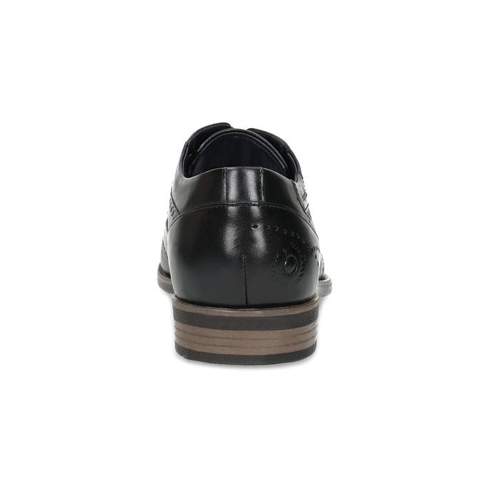 Czarne skórzane półbuty ze zdobieniami brogue bugatti, czarny, 824-6089 - 15