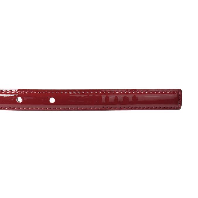 Czerwony pasek damski zklamrą bata, czerwony, 951-5605 - 16