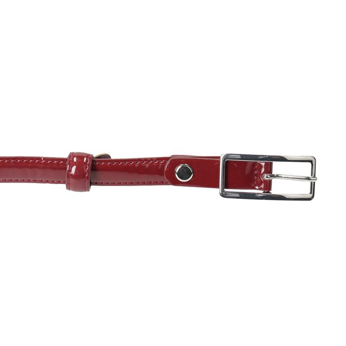 Czerwony pasek damski zklamrą bata, czerwony, 951-5605 - 26