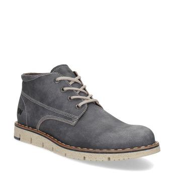 Skórzane obuwie męskie za kostkę weinbrenner, szary, 846-2658 - 13