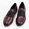 Bordowe półbuty damskie zelastycznymi paskami bata, czerwony, 514-5602 - 16