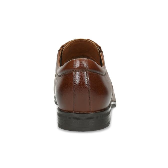 Brązowe skórzane półbuty męskie conhpol, brązowy, 826-3507 - 15