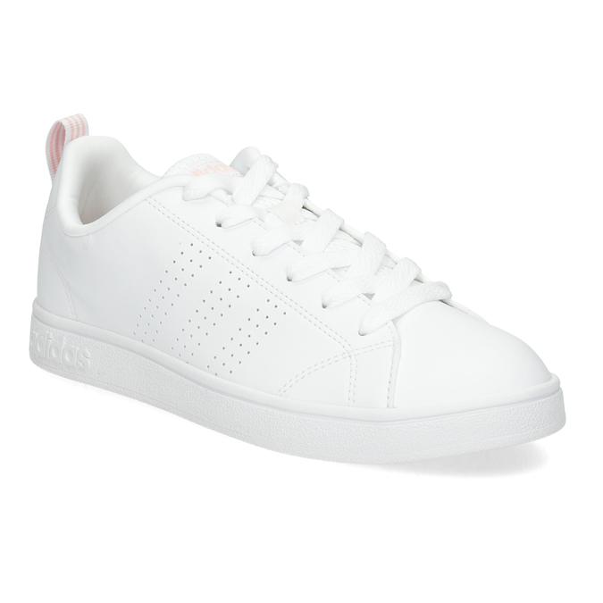 Białe trampki damskie zperforacją adidas, biały, 501-1800 - 13