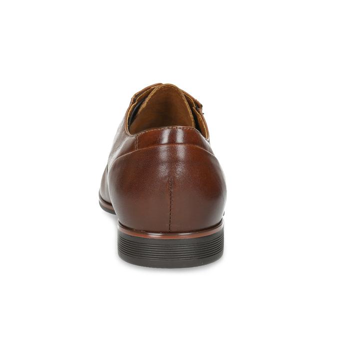 Brązowe skórzane półbuty typu angielki conhpol, brązowy, 826-3509 - 15