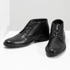 Czarne buty męskie za kostkę zgładkiej skóry comfit, czarny, 824-6822 - 16