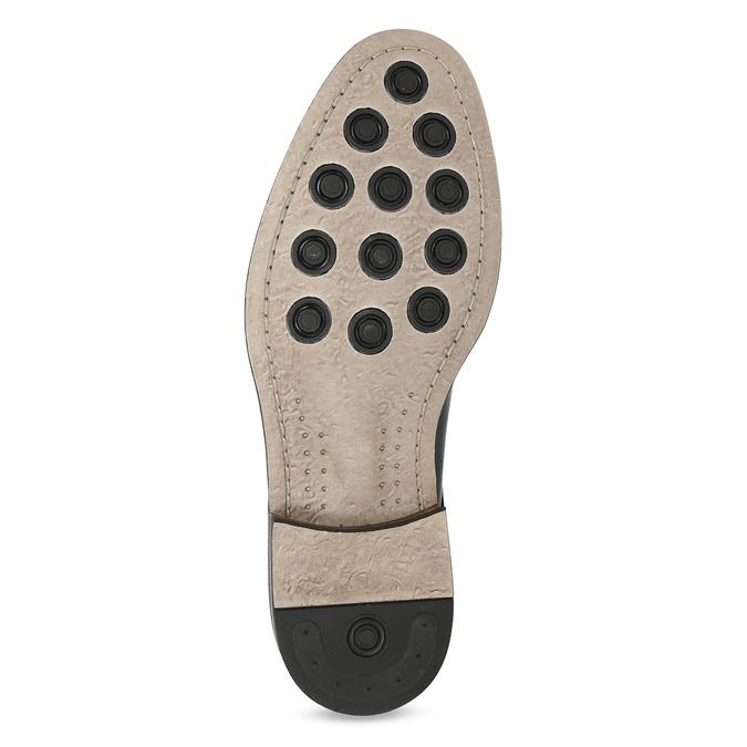 Granatowe skórzane półbuty typu angielki bata, niebieski, 826-9787 - 18